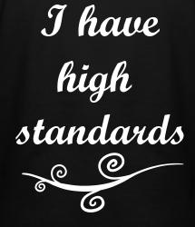 Lowering standards in dating