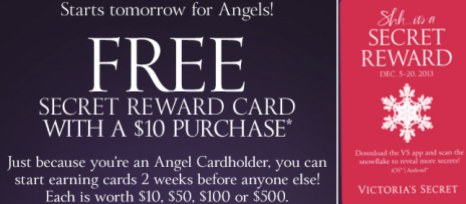 victorias secret angel card