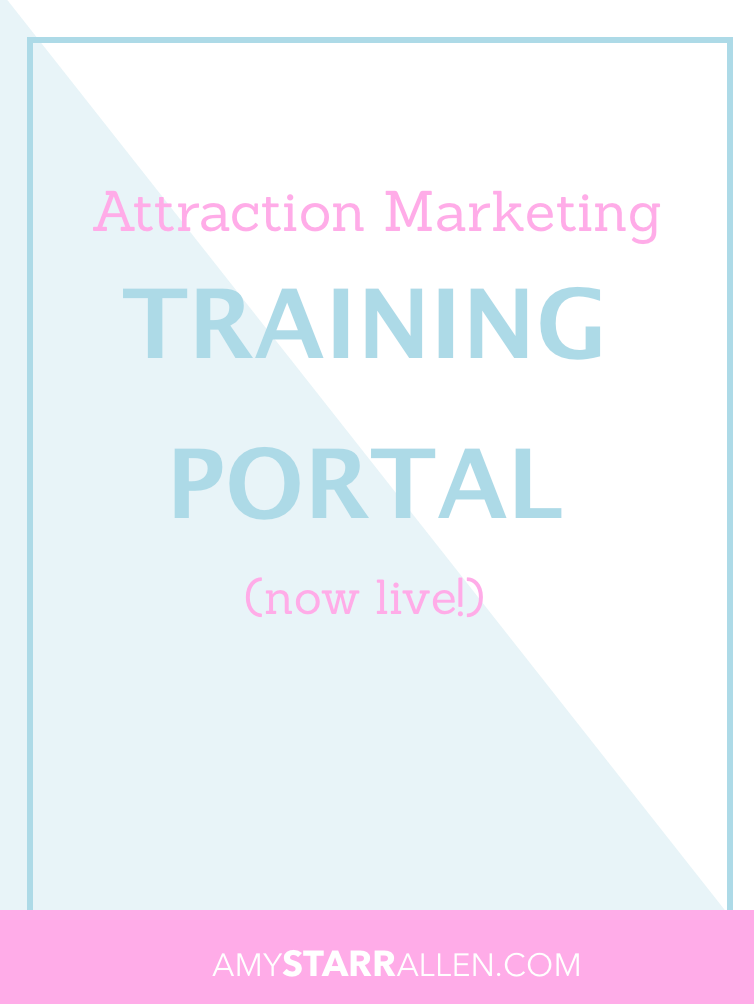 attraction marketing training portal