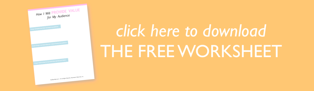provide value worksheet 1