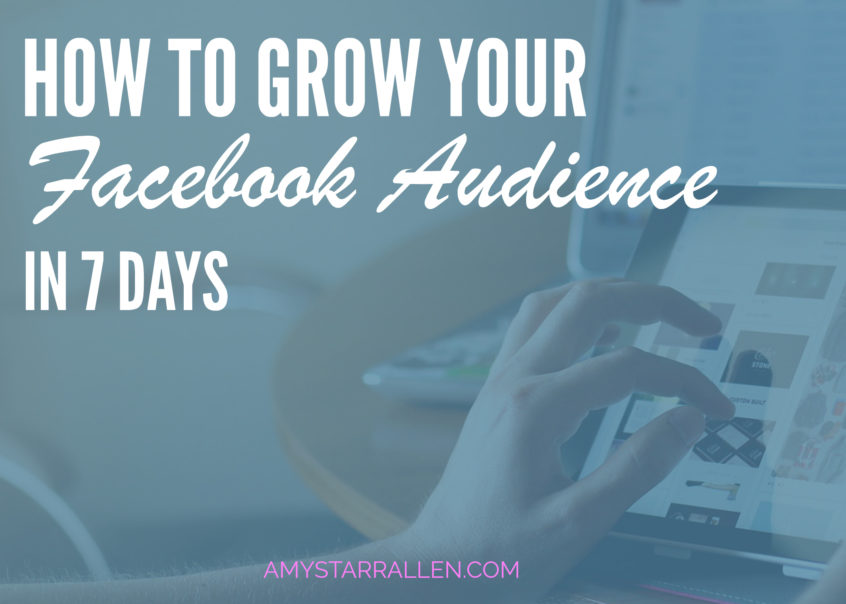 how to grow your facebook audience in 7 days blog