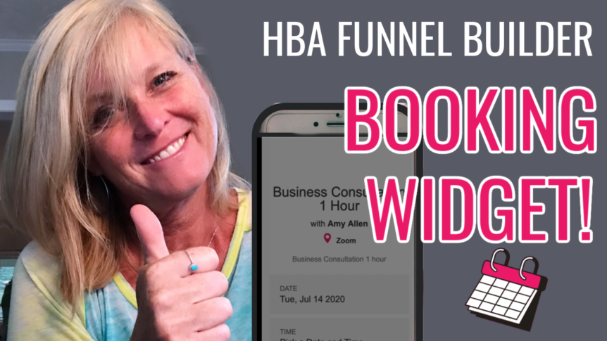 HBA Funnel Builder Booking Widget