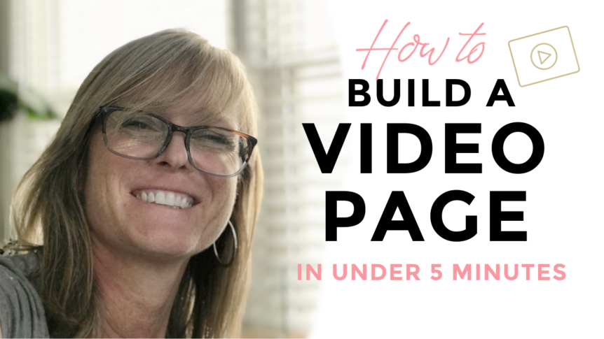 How to Build a Video Page in Under 5 Minutes 2
