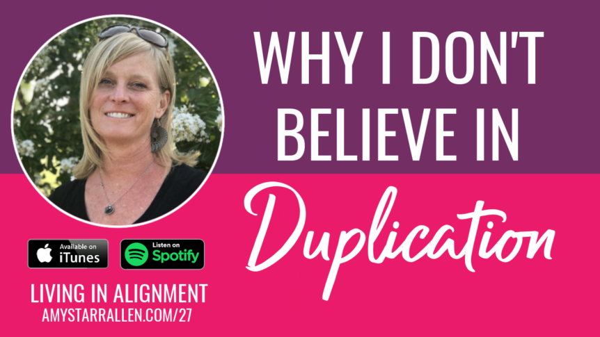 Why I don't believe in duplication