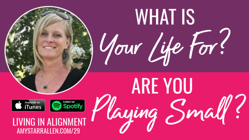What is your life for? Are you playing small?